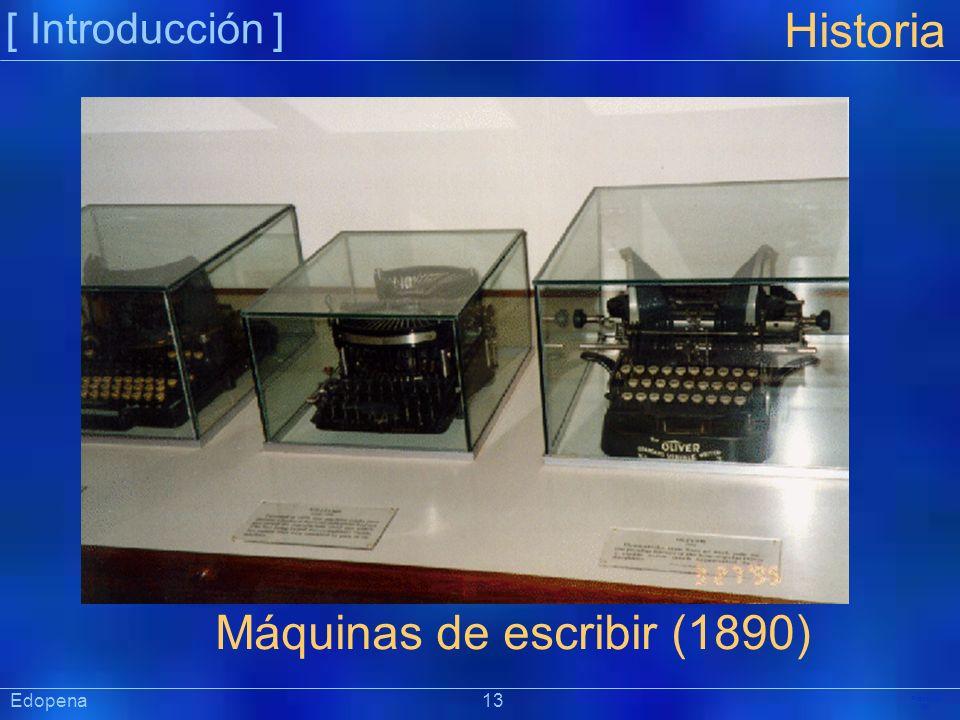 Máquinas de escribir (1890)