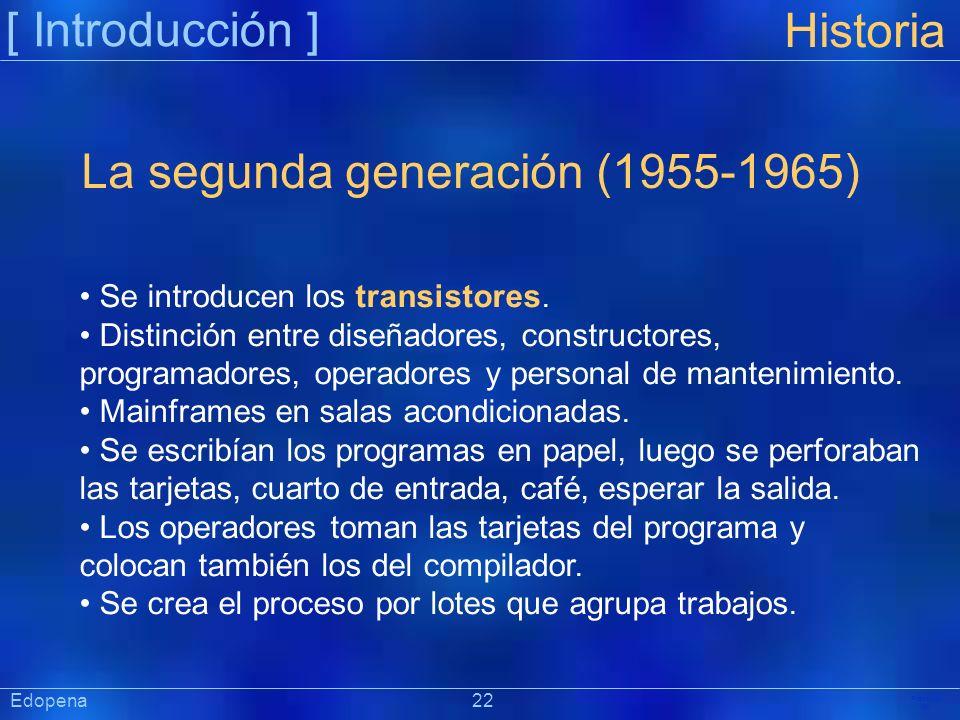 La segunda generación (1955-1965)