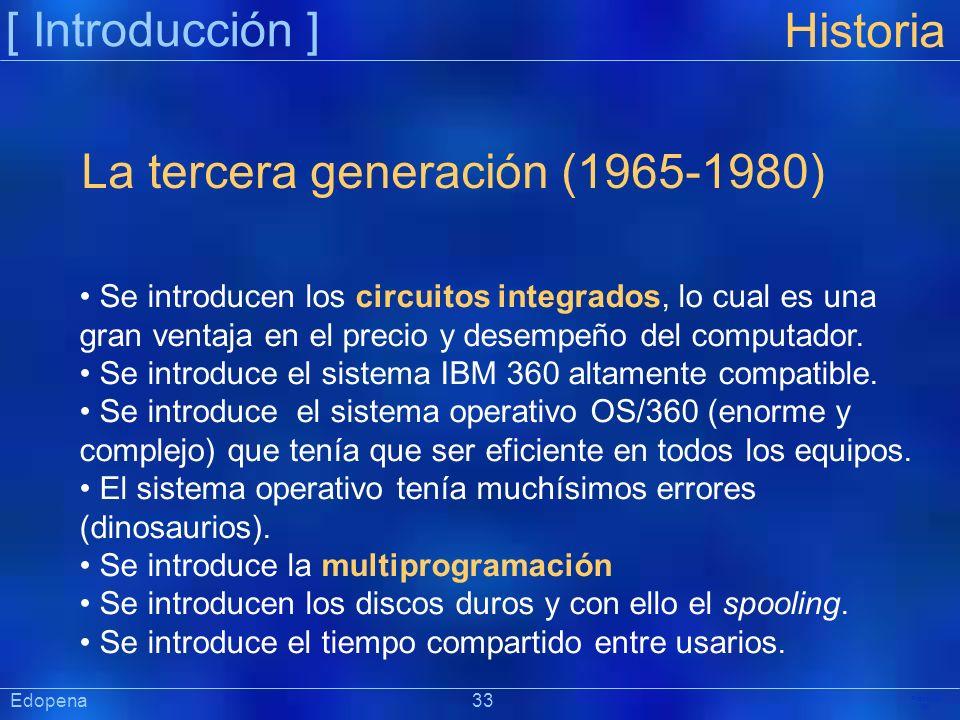 La tercera generación (1965-1980)