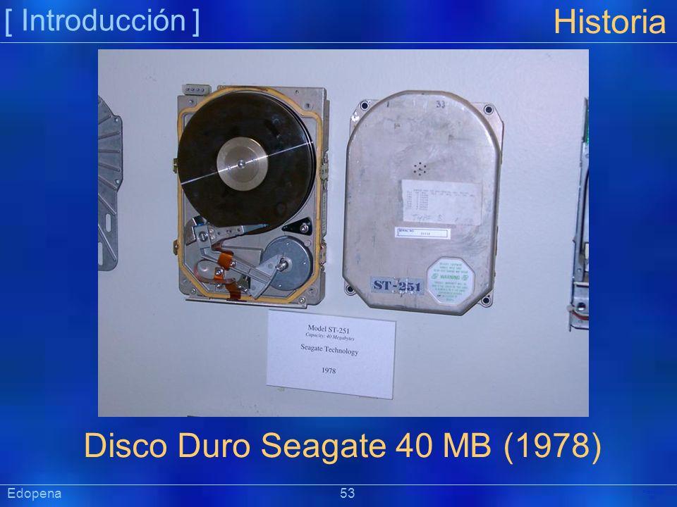Disco Duro Seagate 40 MB (1978)