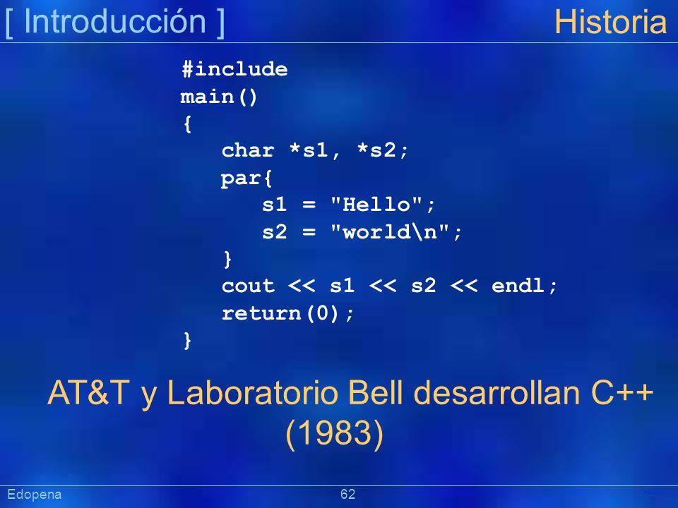 AT&T y Laboratorio Bell desarrollan C++ (1983)