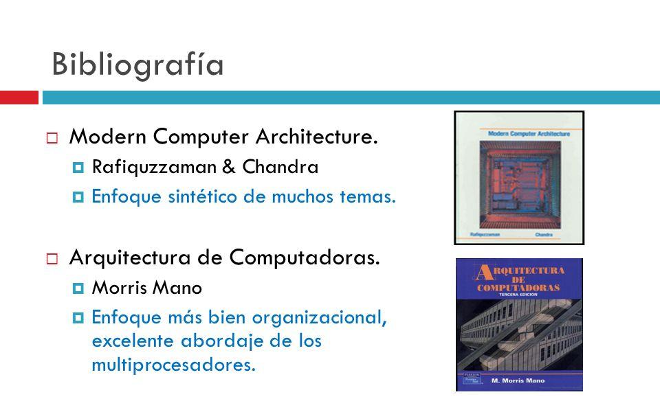Bibliografía Modern Computer Architecture.