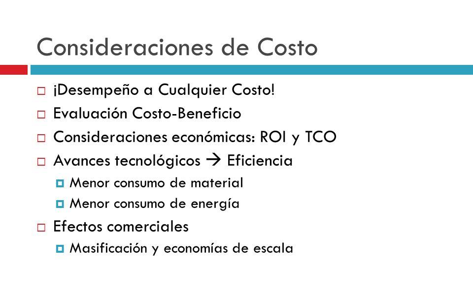 Consideraciones de Costo
