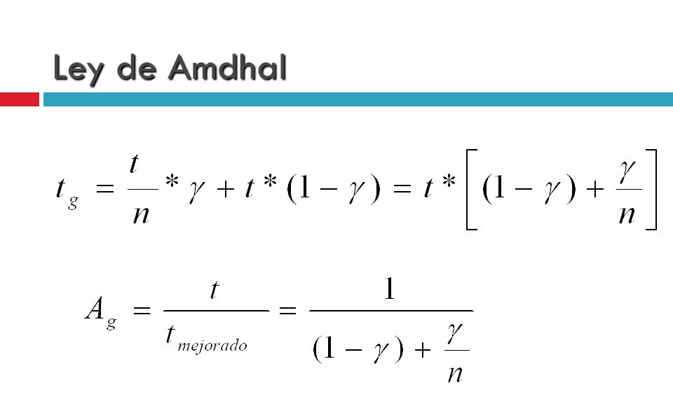 Ley de Amdhal