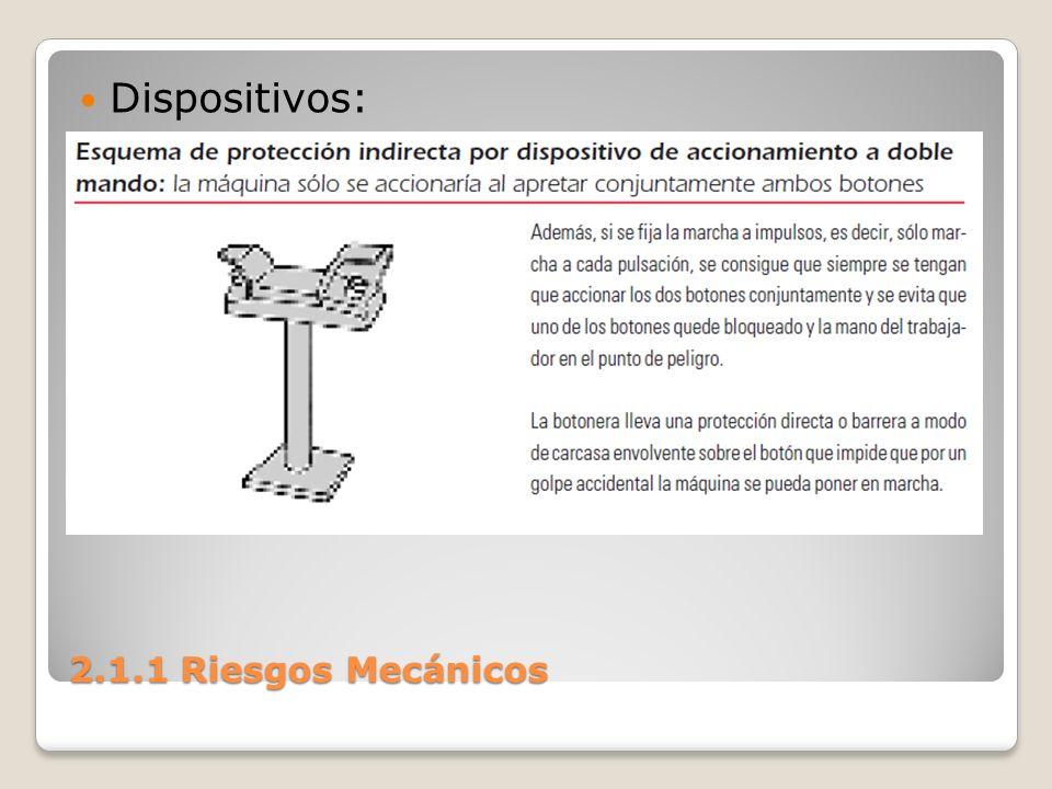 Dispositivos: 2.1.1 Riesgos Mecánicos