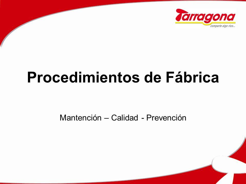 Procedimientos de Fábrica