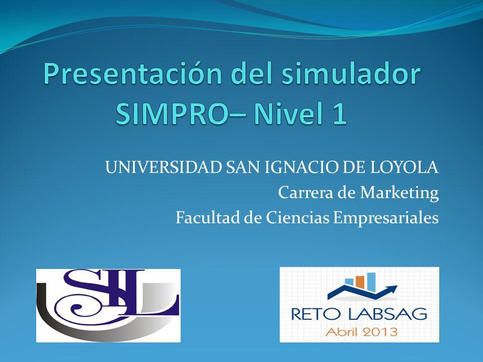 Presentación del simulador SIMPRO– Nivel 1