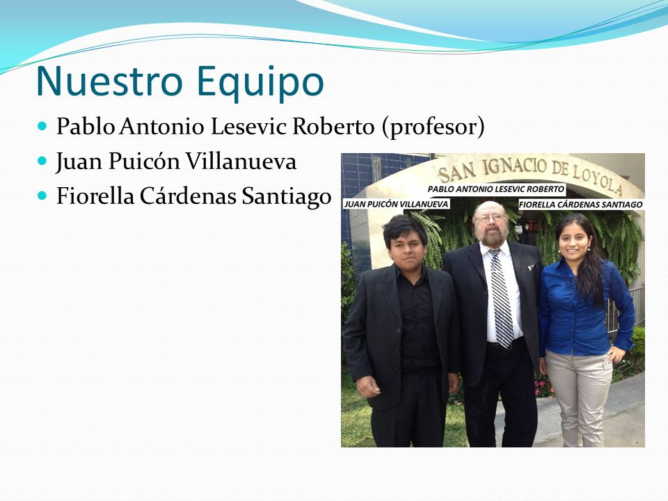 Nuestro Equipo Pablo Antonio Lesevic Roberto (profesor)