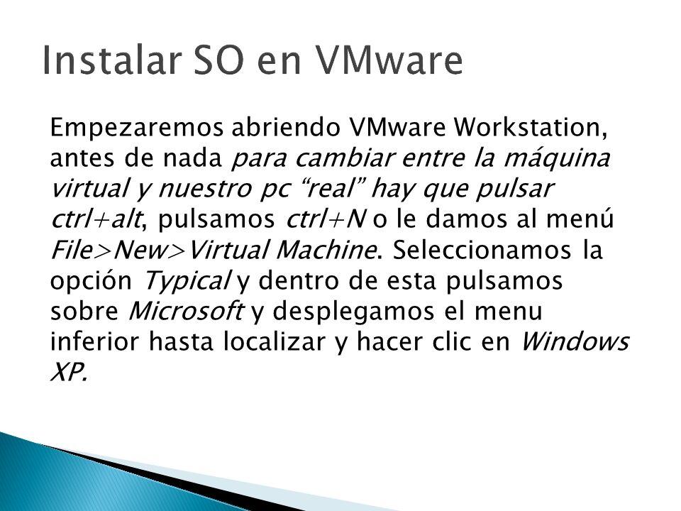 Instalar SO en VMware