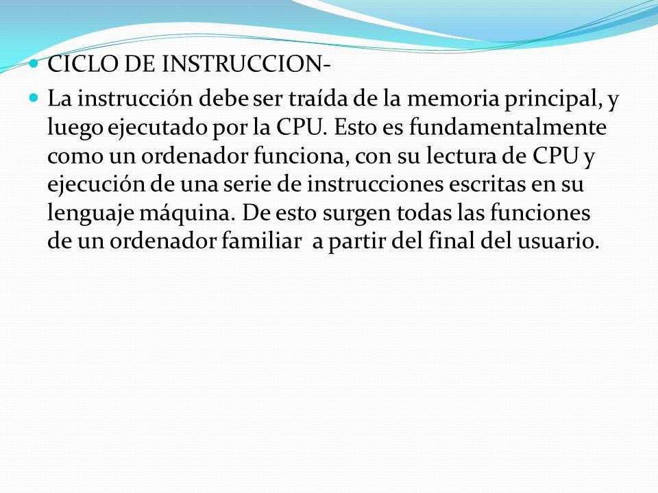 CICLO DE INSTRUCCION-