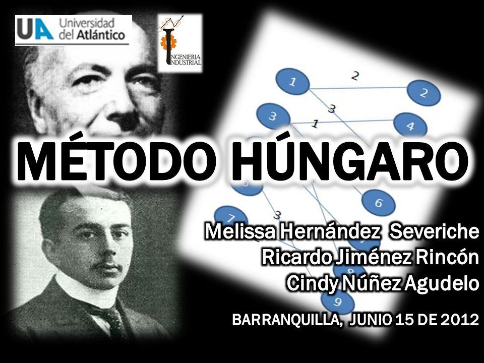 Método húngaro Melissa Hernández Severiche Ricardo Jiménez Rincón