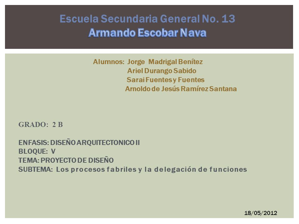 Escuela Secundaria General No. 13 Armando Escobar Nava