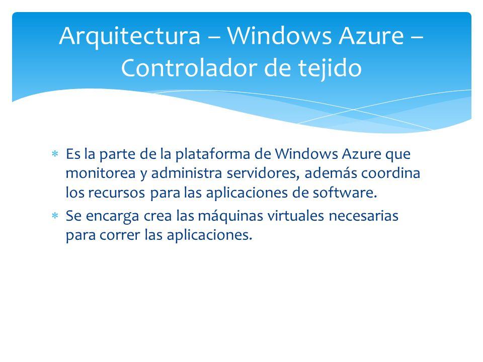 Arquitectura – Windows Azure – Controlador de tejido