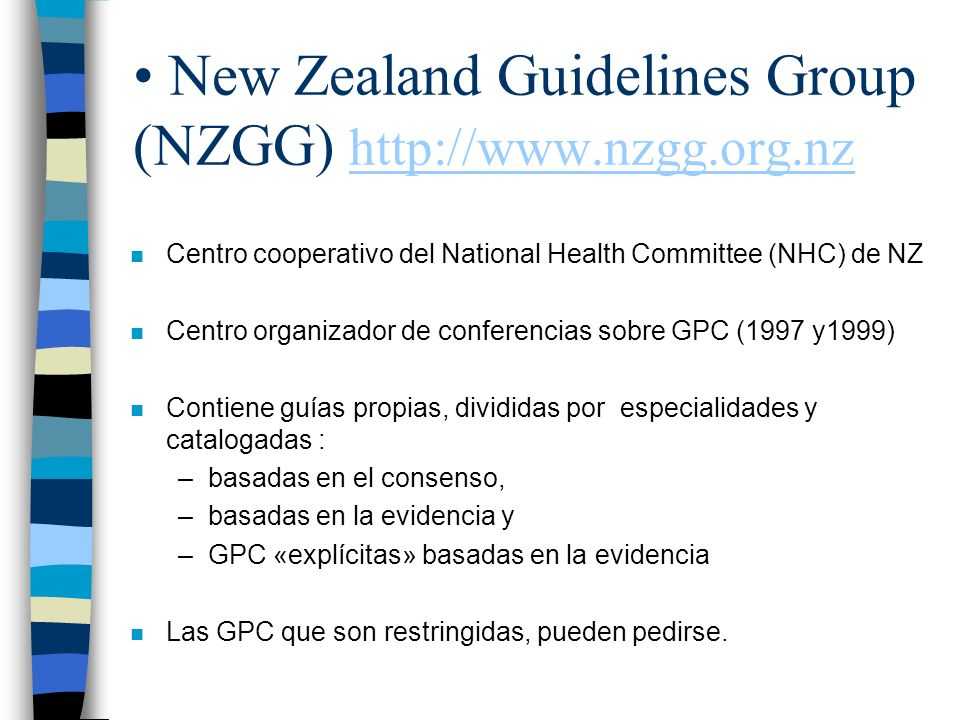 New Zealand Guidelines Group (NZGG)