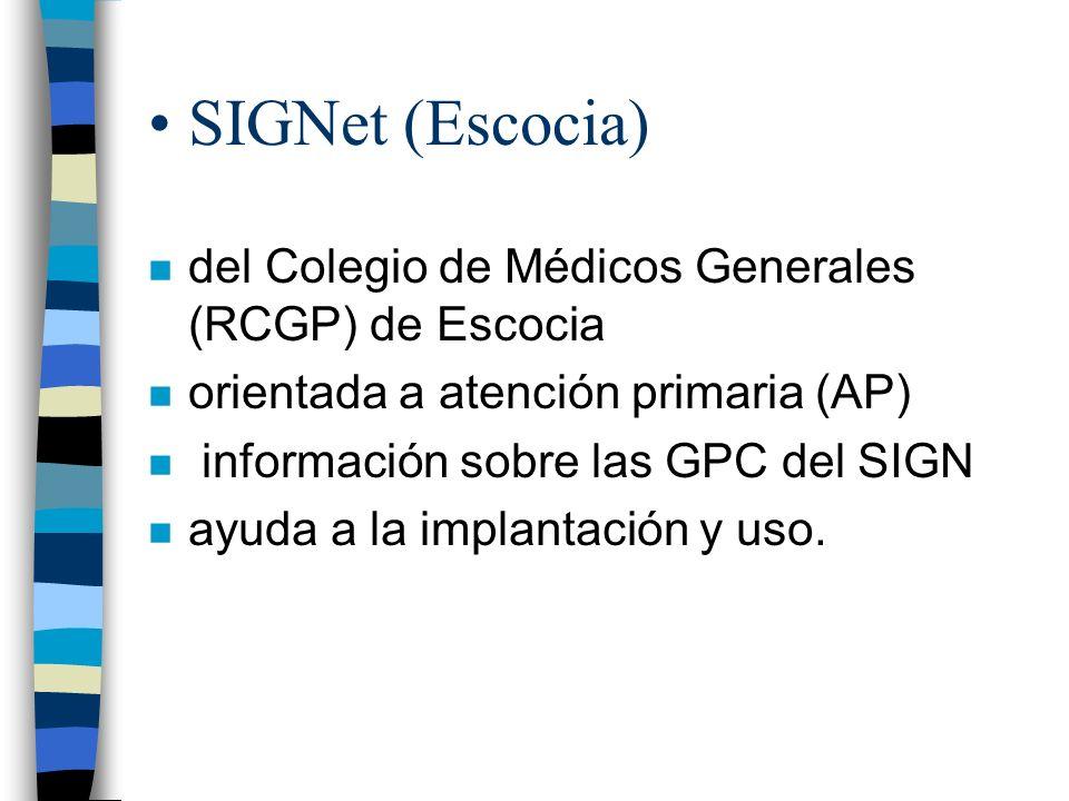 SIGNet (Escocia) del Colegio de Médicos Generales (RCGP) de Escocia