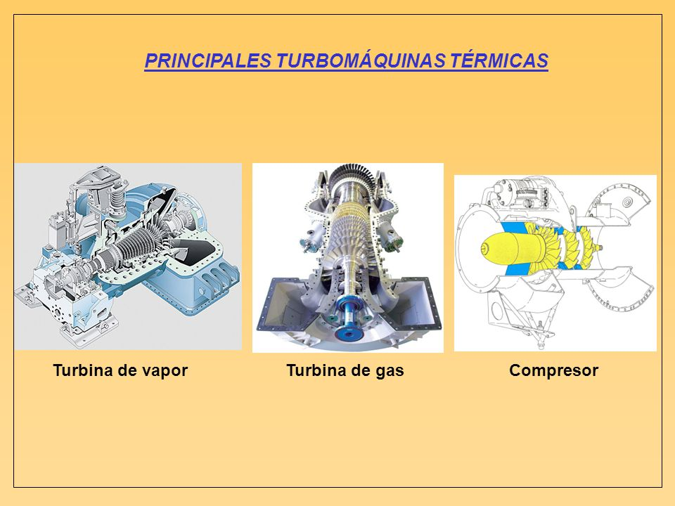 PRINCIPALES TURBOMÁQUINAS TÉRMICAS