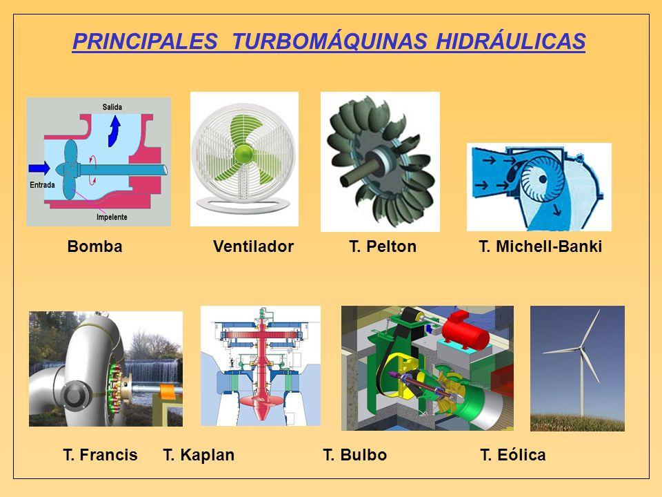 PRINCIPALES TURBOMÁQUINAS HIDRÁULICAS