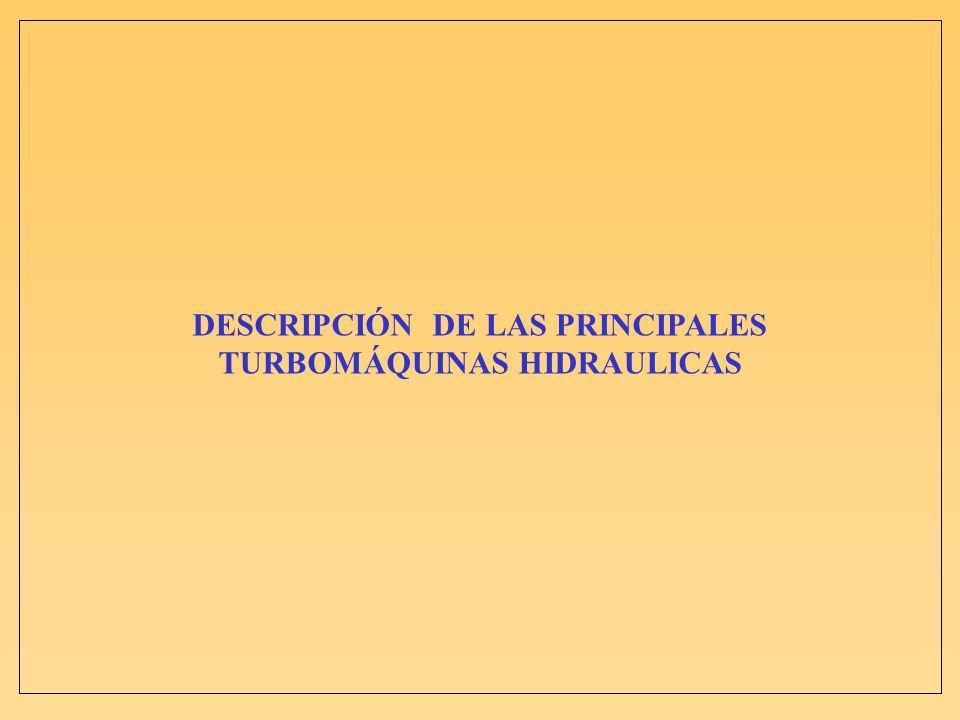 DESCRIPCIÓN DE LAS PRINCIPALES TURBOMÁQUINAS HIDRAULICAS