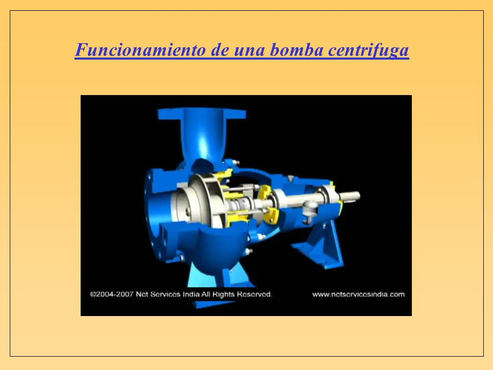 Funcionamiento de una bomba centrifuga