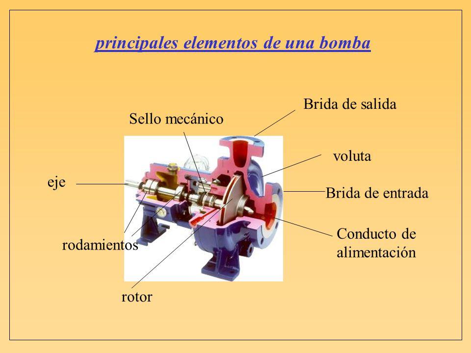 principales elementos de una bomba