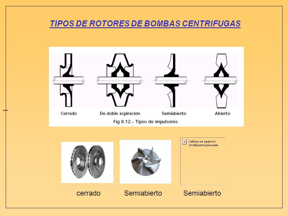 TIPOS DE ROTORES DE BOMBAS CENTRIFUGAS