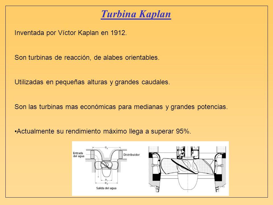 Turbina Kaplan Inventada por Víctor Kaplan en 1912.