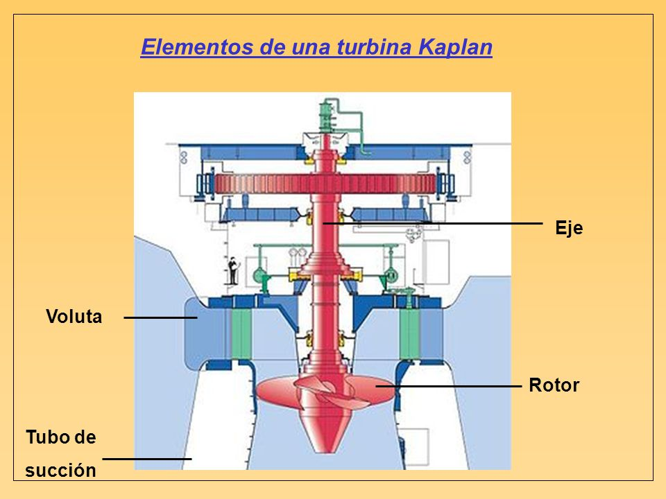 Elementos de una turbina Kaplan