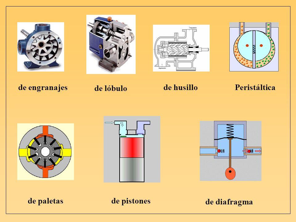 de engranajes de husillo de lóbulo Peristáltica de paletas de pistones de diafragma