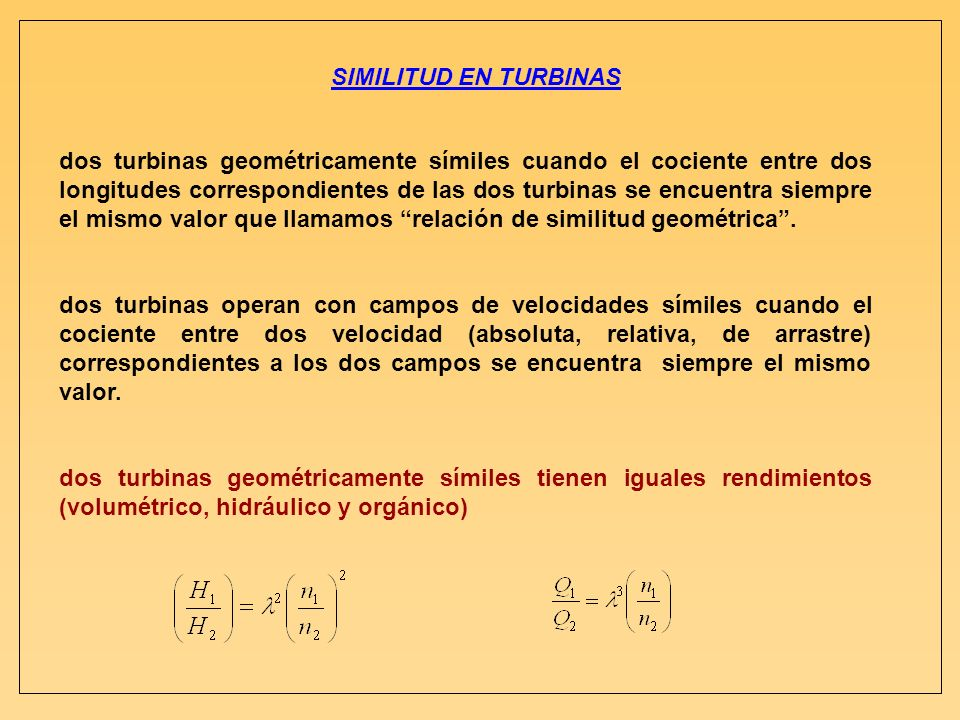 SIMILITUD EN TURBINAS