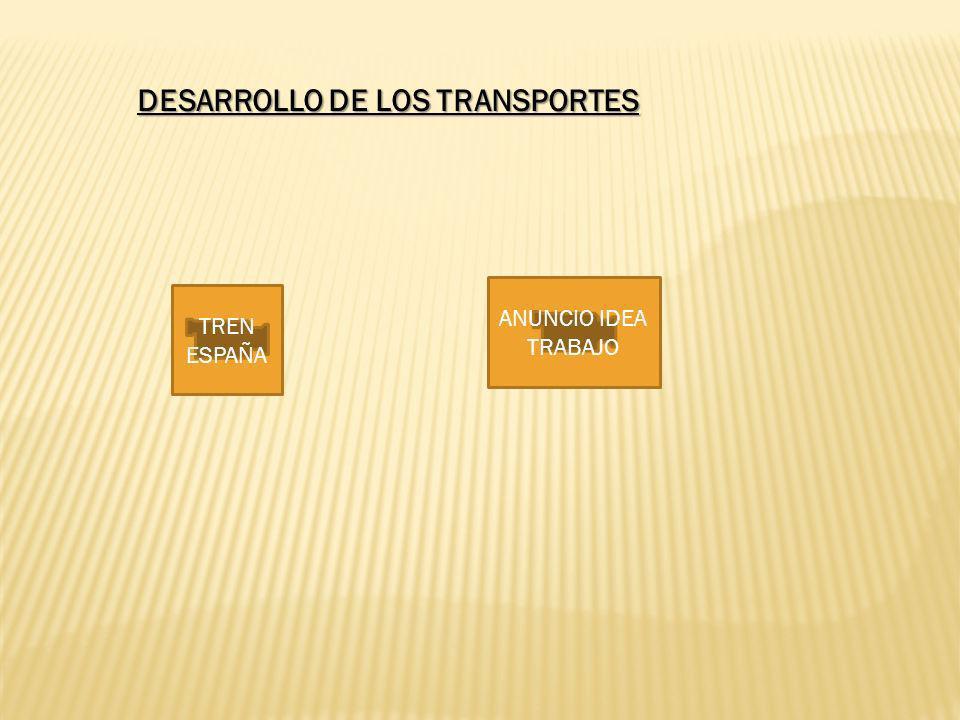 DESARROLLO DE LOS TRANSPORTES