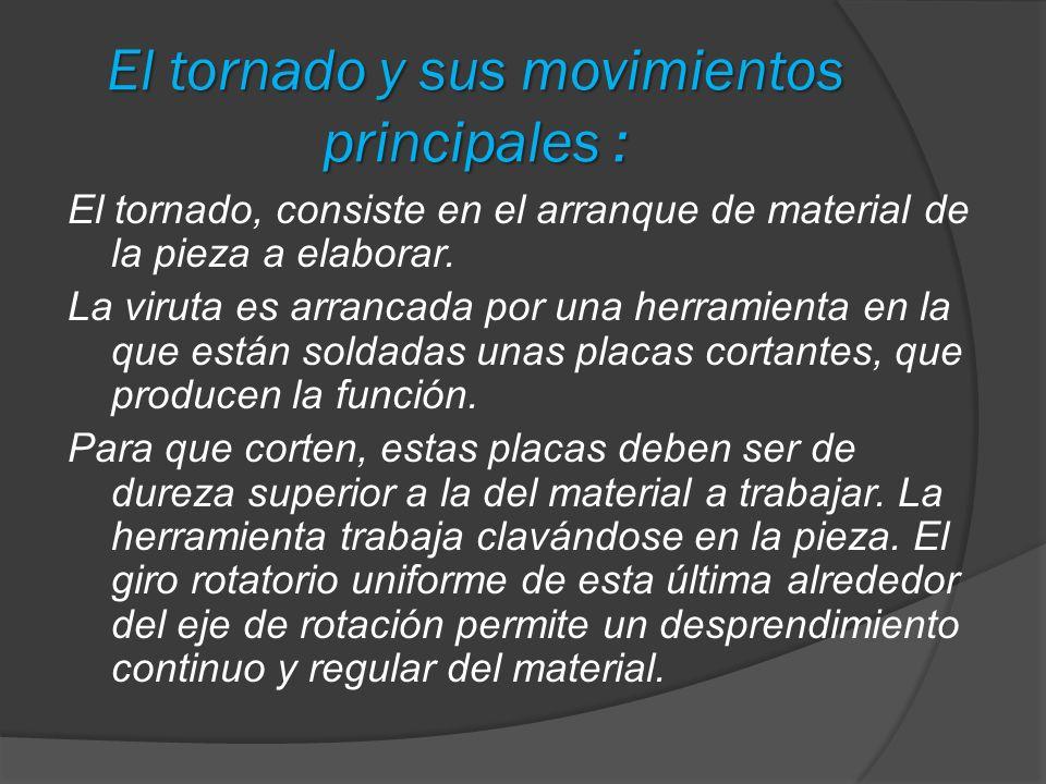 El tornado y sus movimientos principales :