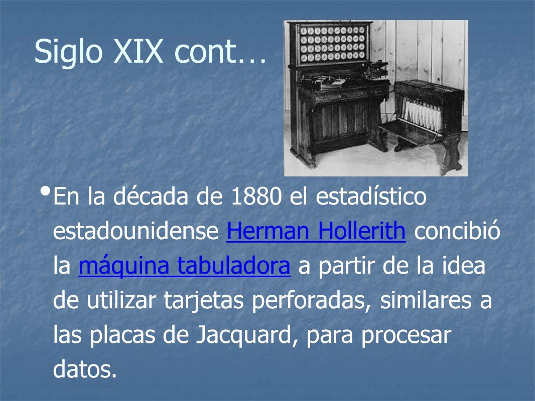 Siglo XIX cont…