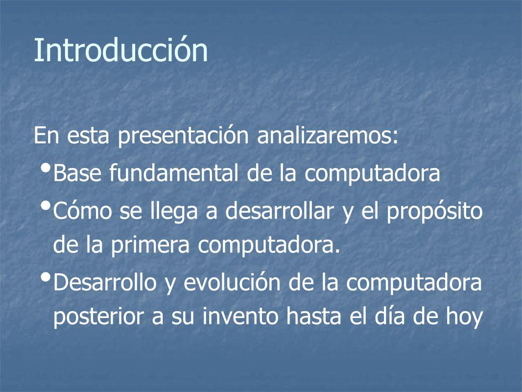 Introducción En esta presentación analizaremos: