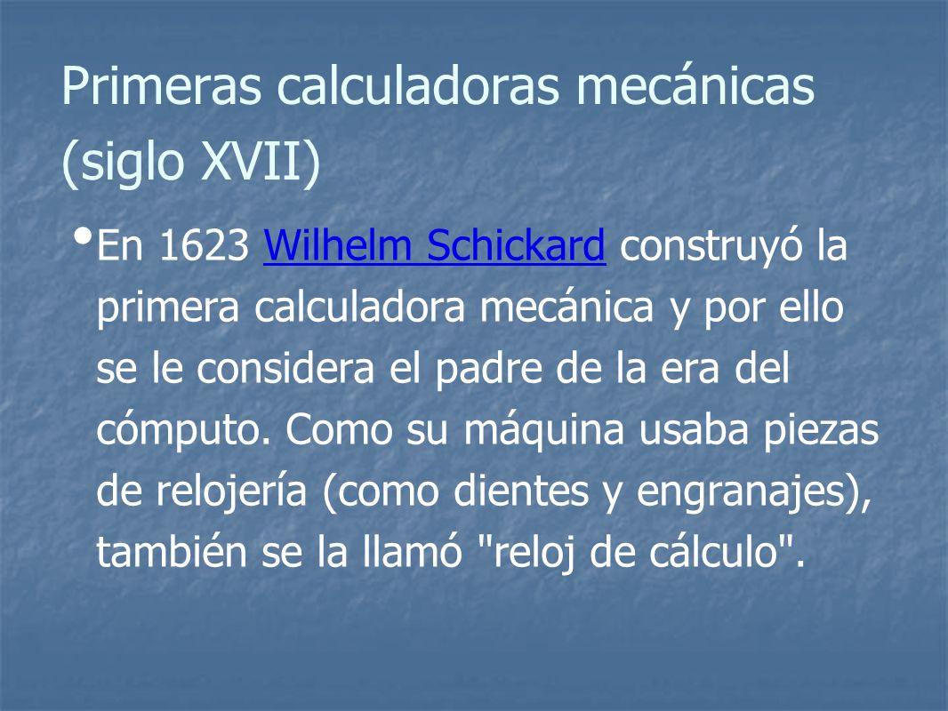Primeras calculadoras mecánicas (siglo XVII)