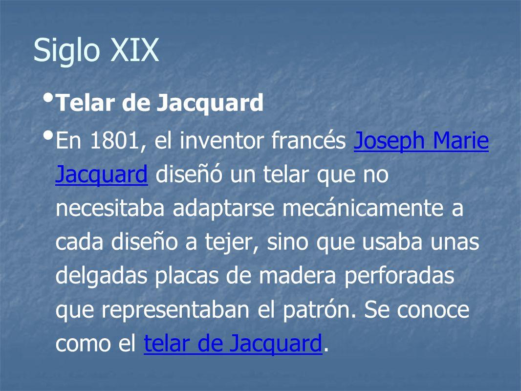 Siglo XIX Telar de Jacquard