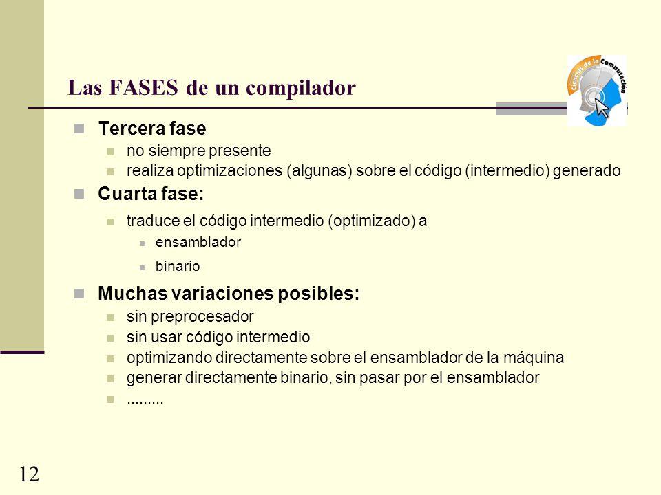 Las FASES de un compilador