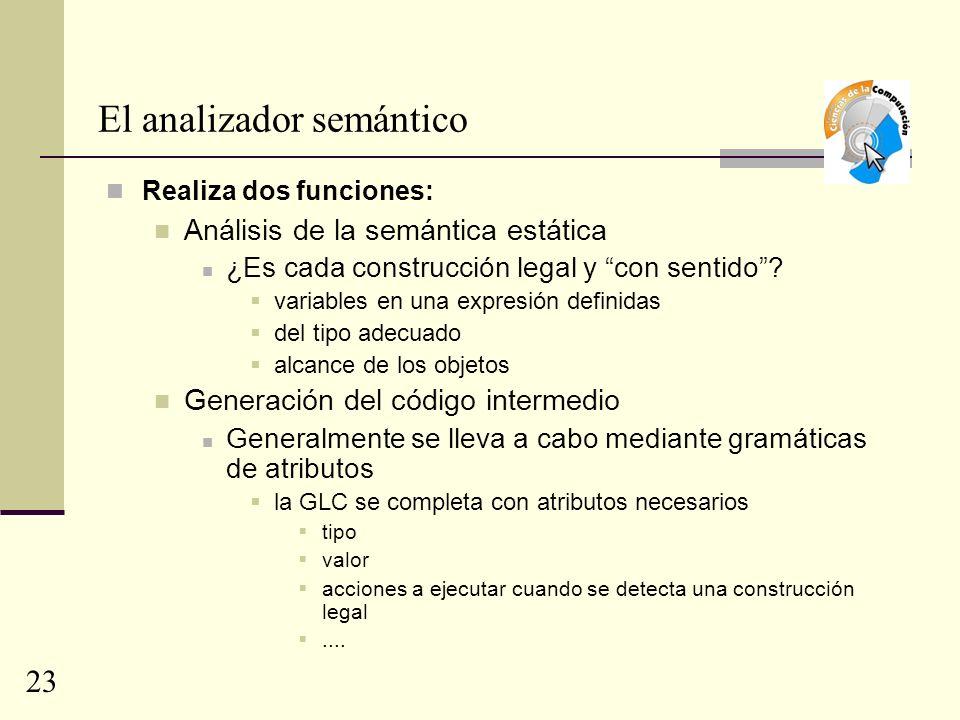El analizador semántico
