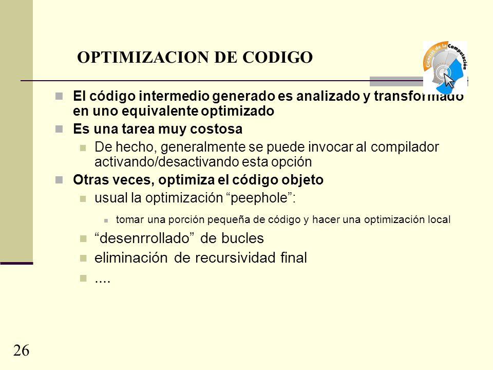 OPTIMIZACION DE CODIGO