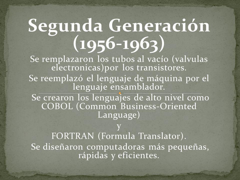 Segunda Generación (1956-1963)