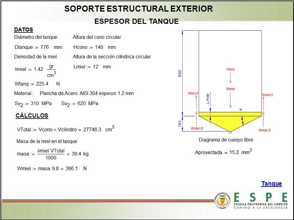 SOPORTE ESTRUCTURAL EXTERIOR