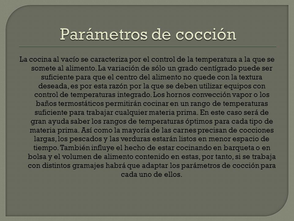 Parámetros de cocción