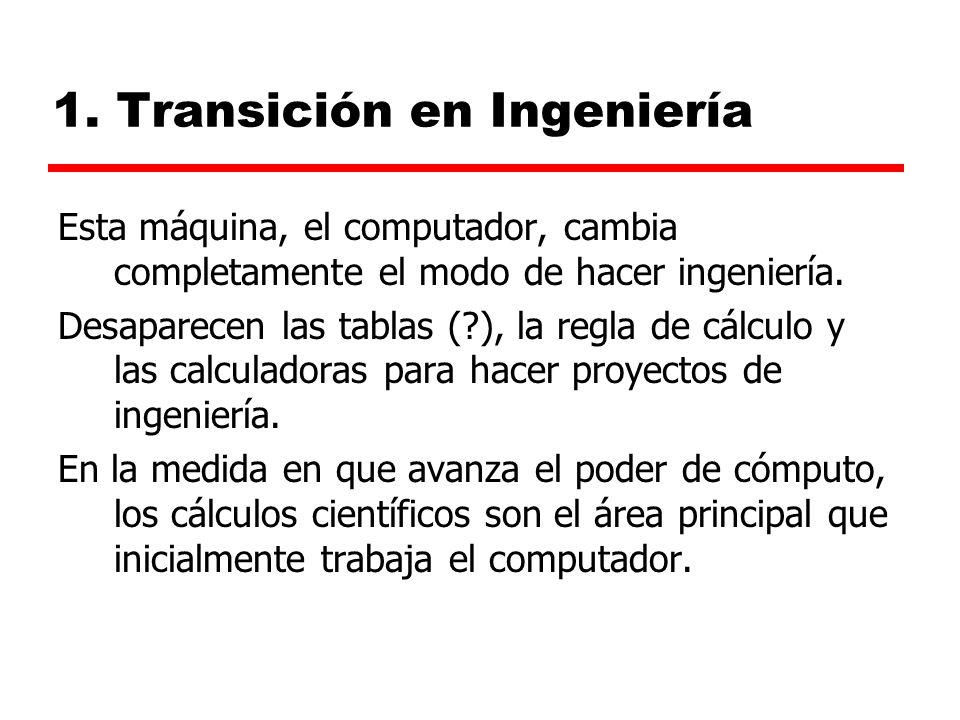 1. Transición en Ingeniería