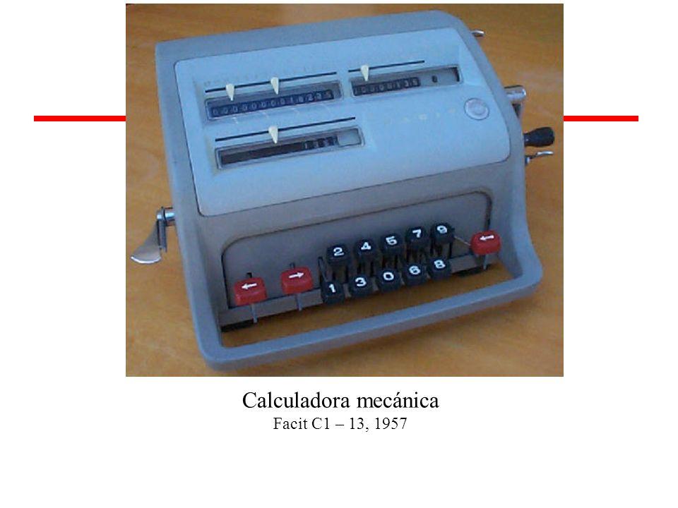 Calculadora mecánica Facit C1 – 13, 1957