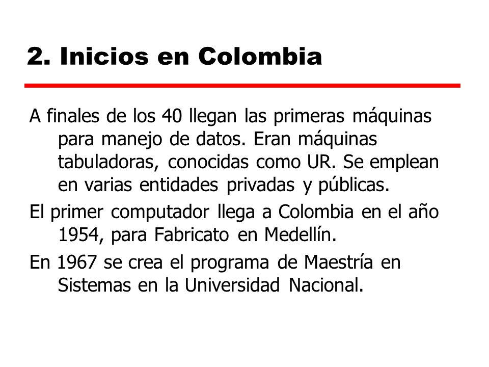 2. Inicios en Colombia