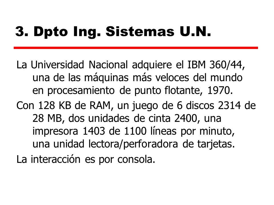 3. Dpto Ing. Sistemas U.N.