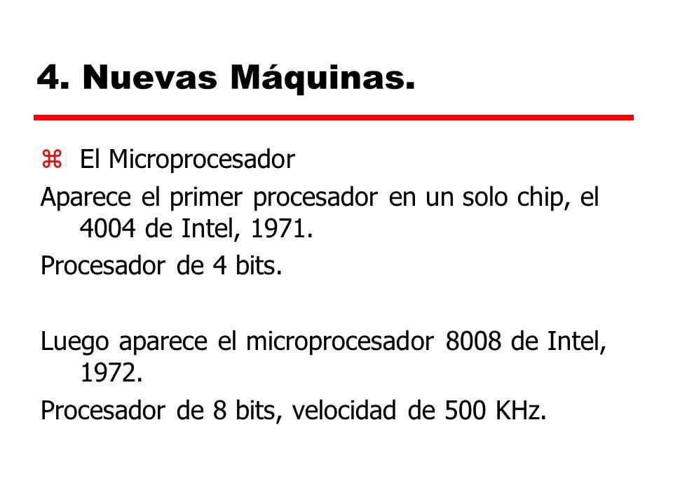4. Nuevas Máquinas. El Microprocesador