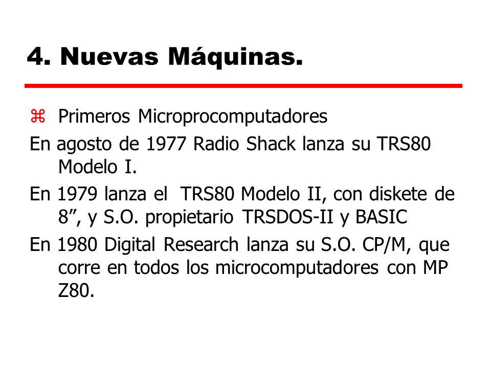 4. Nuevas Máquinas. Primeros Microprocomputadores
