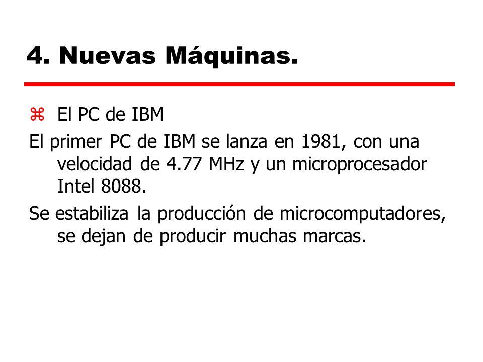 4. Nuevas Máquinas. El PC de IBM