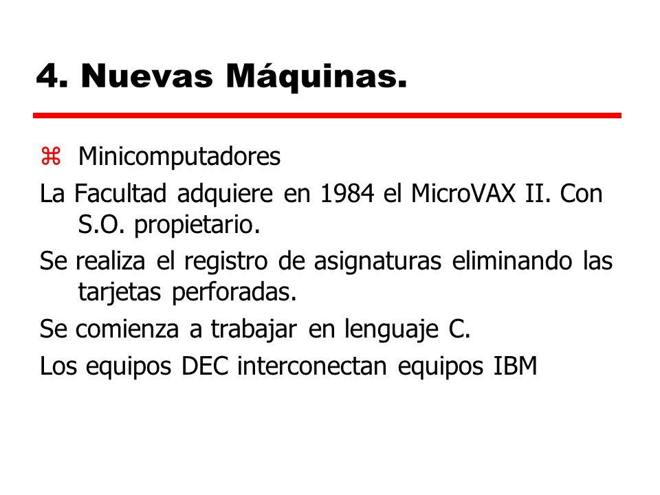 4. Nuevas Máquinas. Minicomputadores