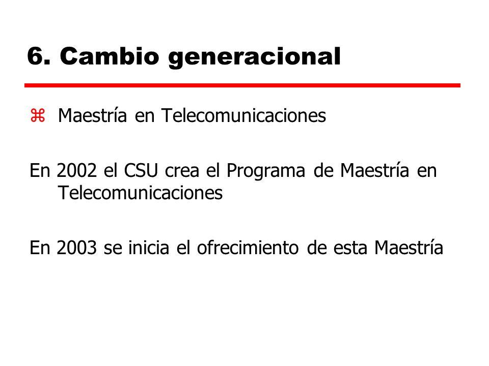 6. Cambio generacional Maestría en Telecomunicaciones